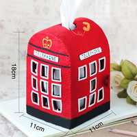 Handmade London Red Phone Booth Tissue Holder [DIY Kit OR Finished Item]