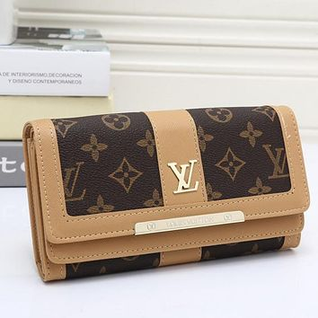 Louis Vuitton LV Women Leather Fashion Multicolor Wallet Purse