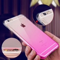 Soft TPU Silicon Case For iPhone 6 6s 4.7 inch Coque Ultra-thin Half Transparent Back Cover For iPhone 6 Plus/ 6S Plus New 2016
