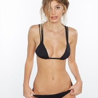 Frankies Bikinis Kalani Scrunch Bottoms - Black