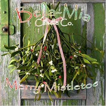 Merry-Mistletoe Natural Hand Poured Soy Candles