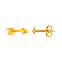 Hip & Trendy Arrow Stud Earrings in 14k Yellow Gold