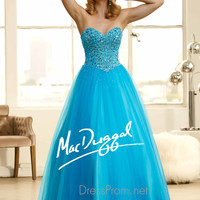 Strapless Sweetheart Prom Ball Gown By Mac Duggal 48253H