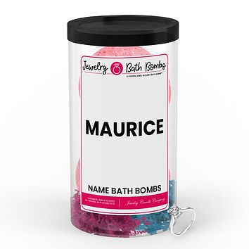 MAURICE Name Jewelry Bath Bomb Tube