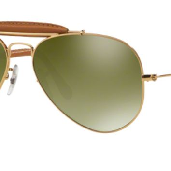 Authentic Ray Ban 0RB3422Q AVIATOR CRAFT 001/M9 BROWN Polarized Sunglasses
