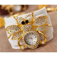 Women's Bracelet Jewelry Fashion Wristwatch in White