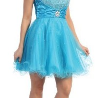 US Fairytailes Strapless Cocktail Party Junior Prom Dress #2697