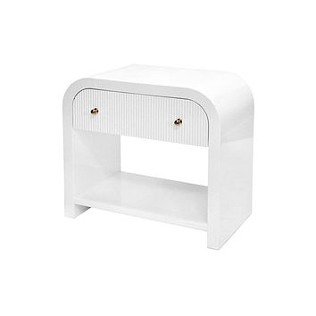 Esther White Side Table by Worlds Away