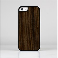 The Black Grained Walnut Wood Skin-Sert Case for the Apple iPhone 5c