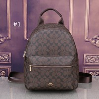 COACH 2018 new retro college large capacity men and women trend travel backpack #1