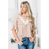 Stealer Of Hearts Cheetah Print Ruffle Top