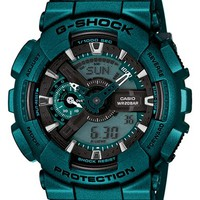 Men's G-Shock XL Resin Ana-Digi Watch, 55mm - Aqua/ Black