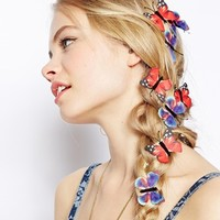 ASOS Pack Of 8 Butterfly Hairclips