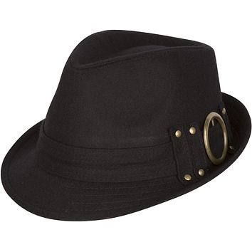Sakkas Sammy Structured Wool Fedora Hat