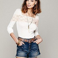 Free People  Gallon Lace Layering Top at Free People Clothing Boutique