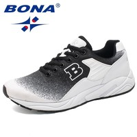 BONA New Classics Style Men Running Shoes Lace Up Sneakers Outdoor Walking Jogging Shoes Light Athletic Shoes Men Free Shipping