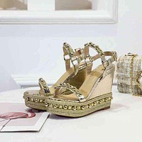 Christian Louboutin CL Pyraclou 11cm Wedges Style #2