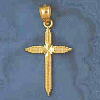 14K GOLD RELIGIOUS CHARM - SMALL CROSS #8287