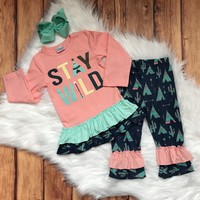 RTS Girls Stay Wild Aztec 2pc Outfit...14.95!