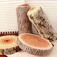 Amazon.com: Novelty Stump Log Wood Pillow Sycamore Home Office Car Soft Cushion