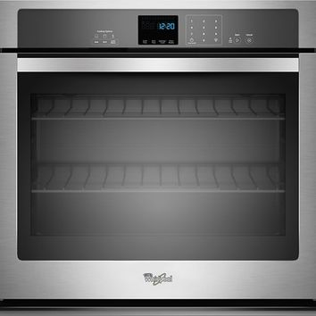 """Whirlpool - 30"""" Built-In Single Electric Wall Oven - Stainless Steel"""