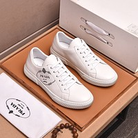 prada men fashion boots fashionable casual leather breathable sneakers running shoes 216