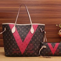 shosouvenir  LV Women Shopping Bag Leather Tote Satchel Shoulder Bag Handbag Crossbody