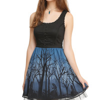 Disney Alice In Wonderland Silhouette Corset Dress