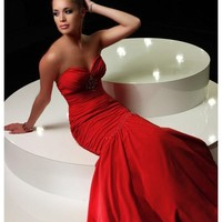 Sexy Chiffon Mermaid Sweetheart Strapless Neckline Hot Sell Evening Dresses - Basadress.com