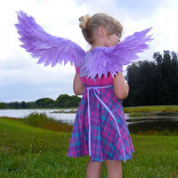 Child's Costume Wings  Violet by No9DreamLand on Etsy