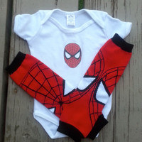 Spiderman Onesuit - Baby Boy - Super Hero - Baby Shower - Halloween - Birthday - 2T, 3T, 4T, 5T