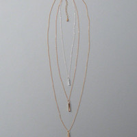 Womens Bar Pendant Layered Necklace | Womens Accessories | Abercrombie.com