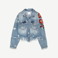 EMBROIDERED DENIM JACKET DETAILS