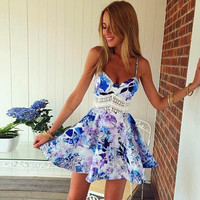 Floral Abstract Loose Dress