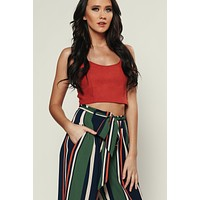 Captivating Crop Top (Marsala)