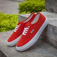Vans Authentic Red Sneakers Casual Shoes