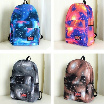 Galaxy Pattern Vintage Style Backpack Padded Big Pocket Back Pack Tablet Bags(Black  is out of stock now) = 1652517124