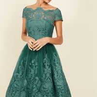 Exquisite Elegance Lace Dress in Lake | Mod Retro Vintage Dresses | ModCloth.com