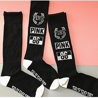 PINK Victoria's Secret Women Sport Running Gym Socks Stockings