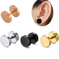 2 Pieces/lot 16G 1.2mm Rose Gold Stainless Steel Ball Earring Barbell Tragus Earring Nose Ring Body Piercing Jewelry