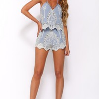 On My Way Playsuit Blue