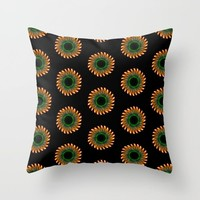 Pretty Floral Pattern Throw Pillow by kasseggs