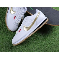 Mister Cartoon x Nike Cortez Basic QS White Gold Sport Running Shoes Sneaker AA4875-004