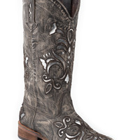 Roper Ladies Western Square Toe Leather Fashion Boots