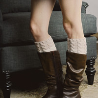 Peppered Ombre Boot Cuff - Ivory
