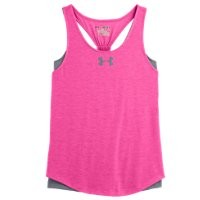 Under Armour Girls' UA Double The Fun Tank