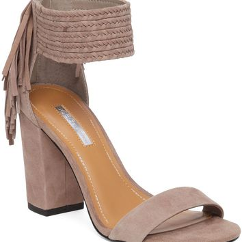 BCBGeneration Calizi Fringe Block Heel Sandals | Dillards