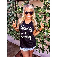 Young & Crazy Women's Muscle Tank