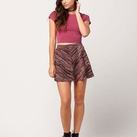 FULL TILT Marled Stripe Skirt | Short Skirts