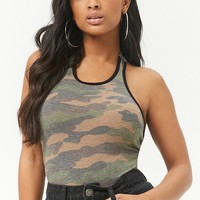 French Terry Camo Bodysuit